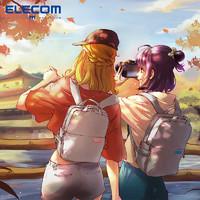 ELECOM双肩单反相机包off toco佳能尼康摄影包便携男女背包S041