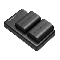 RAVPower RP-BC003 佳能相机LP-E6电池*2粒 黑色