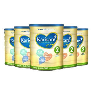 Karicare 可瑞康 婴儿牛奶粉 2段 900g*6罐