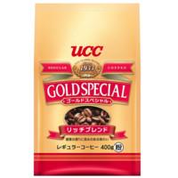 日本进口 UCC(悠诗诗) 黄金特选系列 香醇研磨速溶咖啡粉 400g/袋 芳醇浓香