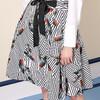 MOFAN 摩凡 女士条纹印花短裙