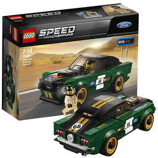 LEGO 乐高 赛车系列 75884 1968款福特野马拼装玩具