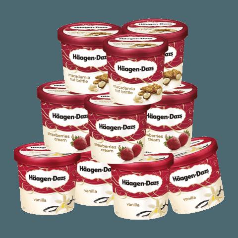 Häagen·Dazs 哈根达斯 冰淇淋 多口味 100ml*10杯
