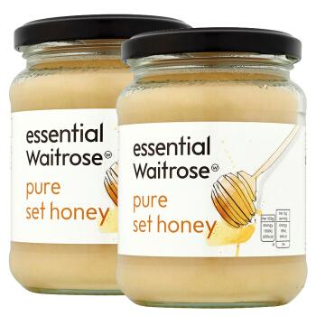 waitrose 纯结晶蜂蜜 玻璃罐装 454g*2瓶 *2件