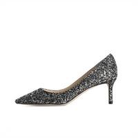 88VIP、黑五直邮季:JIMMY CHOO J000107812 闪亮片女士高跟鞋婚鞋6CM