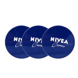 NIVEA 妮维雅 万用润肤霜/面霜 经典蓝罐 169g*3罐装 *2件