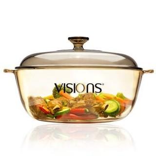 VISIONS 康宁 VS-4L-HD 晶彩透明汤锅 (4L)
