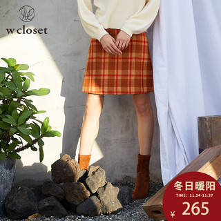 w closet 9408283944 女士毛呢短裙