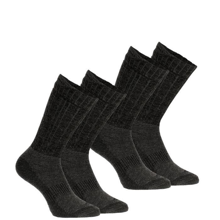 DECATHLON 迪卡儂 SH500 成人冬季雪地徒步保暖襪 中幫 黑色