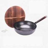 移动专享:无涂层锻打铁锅 32cm单锅+木盖