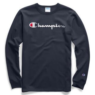 Champion Life系列 Y06136 Ink Script Logo 男士新款美版休闲长袖T恤  经典圆领