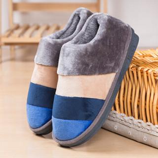 如诺 冬季加厚棉拖鞋 防滑静音