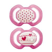babydream 几何图案硅胶安抚奶嘴3个月以上 2只装