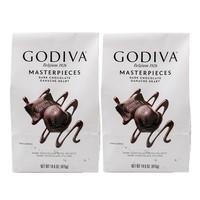Godiva 歌帝梵 软心夹心黑巧克力 415g*2袋