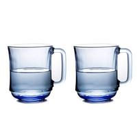 DURALEX 多莱斯 玻璃杯水杯 310ml 浅蓝色 2只装