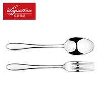 Lagostina 拉歌蒂尼 路易莎系列 不锈钢叉勺 2件套