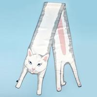 kouga 口嘎 小动物设计长丝巾