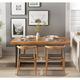 微观世界 复古实木工作桌餐桌 120*60*75cm