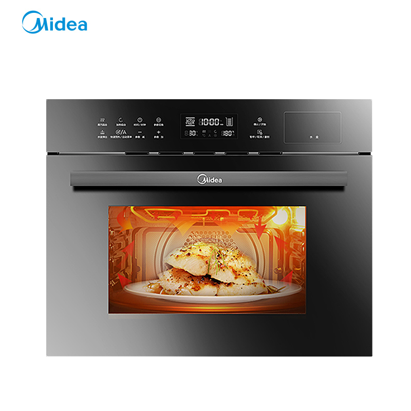 美的(Midea)TQN36TXJ-SA 星爵智能WiFi蒸烤一体机 家用 嵌入式蒸烤箱二合一 蒸汽烤箱