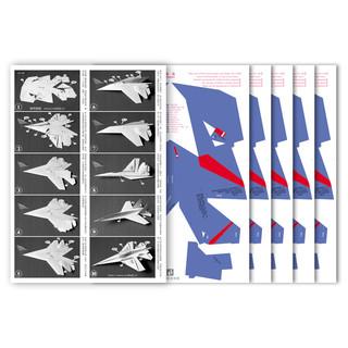 刘冬纸飞机科普商店 苏27勇士飞行表演队纸飞机模型