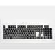 Readson 双色透光键帽 机械键盘专用 黑色104键