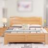 进畅家具 床 实木床新中式1.5m1.8米进口榉木储物床气动高箱简约现代双人床主卧婚床(1.8*2米 床) 1898.82元