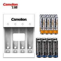 飞狮(Camelion)BC-0807S 4槽USB充电套装配8节5号2000毫安+8节7号1100毫安充电电池 鼠标/键盘