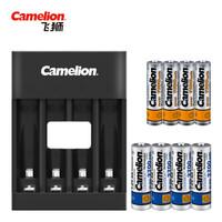 飞狮(Camelion)BC-0807F 4槽USB智能快充套装配4节5号2700毫安 4节7号1100毫安充电电池 鼠标/键盘 *2件