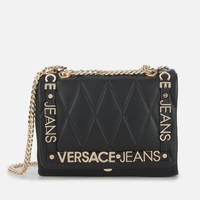 VERSACE JEANS QUILTED LOGO 女士链条包