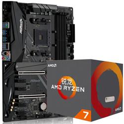 华擎(ASRock)X470 Master SLI主板+AMD 锐龙 7 2700 处理器 (r7) 板U套装