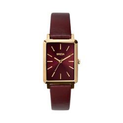 BREDA Baer系列女士复古简约方盘真皮手表