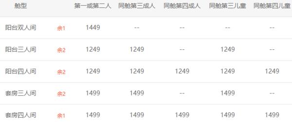 歌诗达-新浪漫号 上海-日本长崎-上海 5天4晚邮轮游