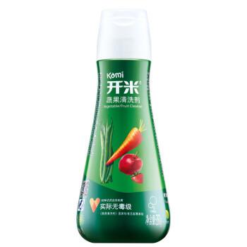 开米(kami)蔬果清洗剂清洁剂 果蔬净清洗液 洗洁精(无香型) 350g 瓶装 *2件