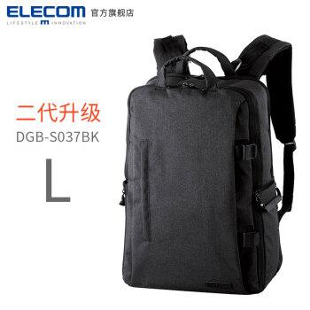 ELECOM 宜丽客 S037 二代升级款 日本offtoco旅行单反相机包 (L号、黑色)