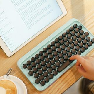 LOFREE 洛斐 EH112S OT圆点蓝牙机械键盘 (青轴、白色、单光、蓝牙、79键)