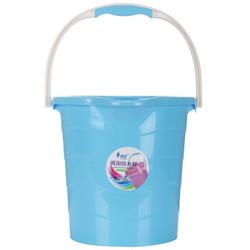 顺美 塑料水桶 10L手提式带水口波浪纹水桶SM-2590 蓝色 *2件
