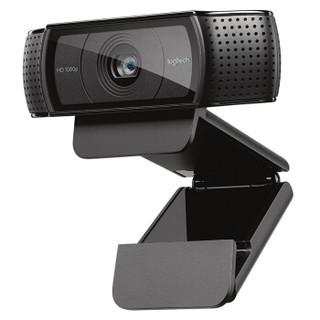 Logitech 罗技 C920 台式电脑高清摄像头 黑色