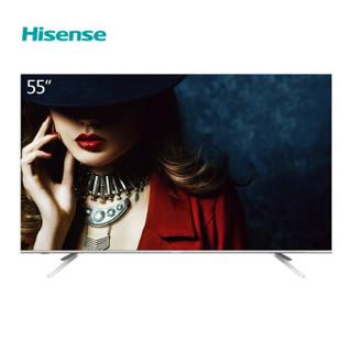 Hisense 海信 HZ55E5A 一体超薄智能电视 (4K超高清(3840*2160)、银色、55英寸)