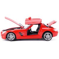 美致 1/24奔驰跑车仿真汽车模型 红色-硬顶
