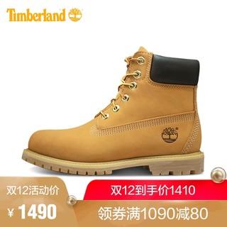 Timberland 添柏岚 1036IW 女士户外经典大黄靴 (宽版、37、小麦色)