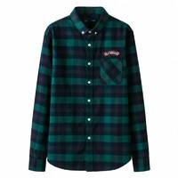 Semir 森马 13-057051031 男士长袖衬衫 (蓝绿色调)