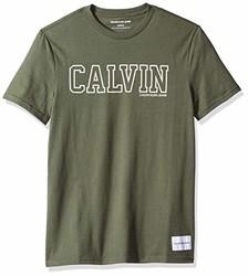 Calvin Klein 男士 印花T恤 深绿色