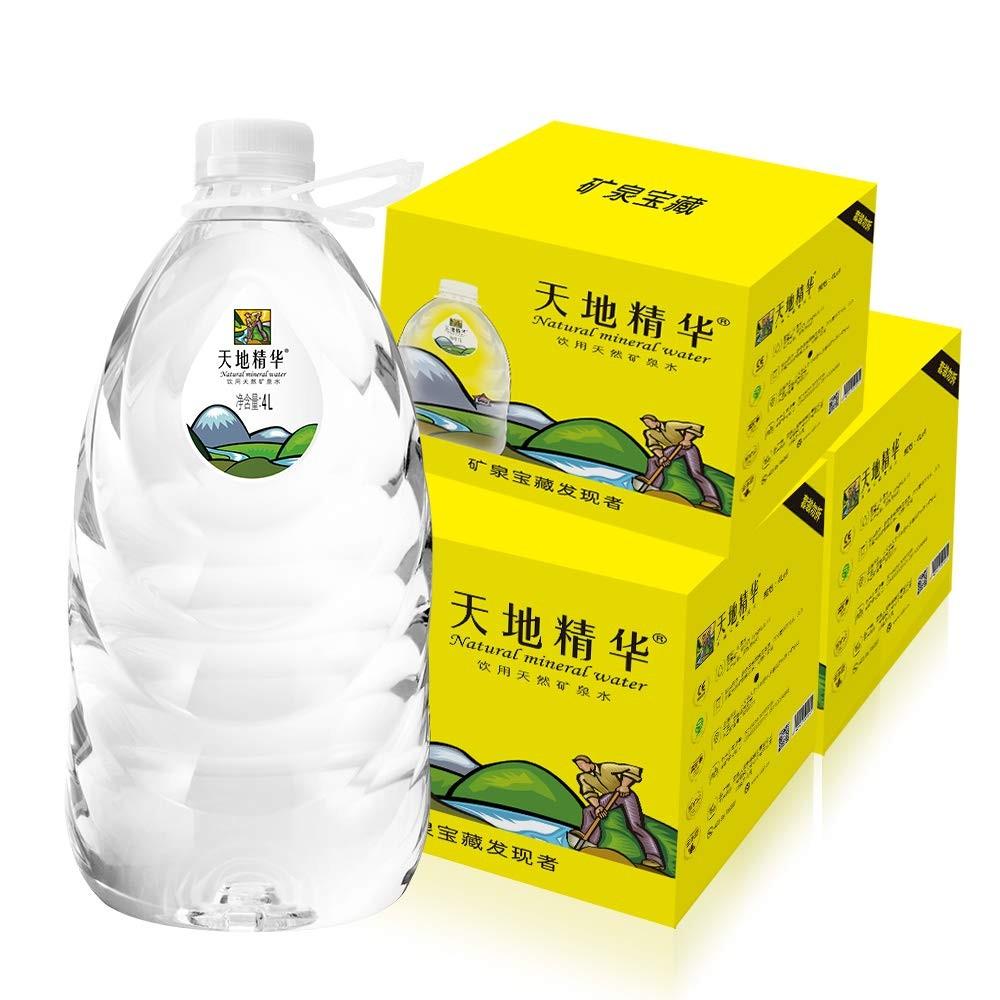 天地精华 天然矿泉水 4L*4桶 *3件