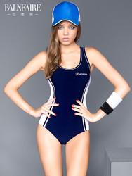 范德安保守泳衣女遮肚显瘦专业连体游泳衣 小胸聚拢运动温泉泳装