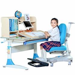 SINGAYE心家宜 净化甲醛儿童学习桌椅套装 可升降多功能 桌长100*60cm M130+M215L+M634(双层书架) 王子蓝