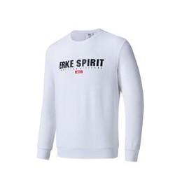 鸿星尔克 男运动卫衣休闲圆领套头衫运动服 11218314246 正白 XL
