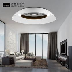 新品 新特丽led客厅吸顶灯现代简约圆形树脂吸顶灯餐厅灯创意灯饰