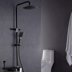ARROW 箭牌卫浴 AEO1T1110-P 空气能增压淋浴花洒套装 黑色花洒