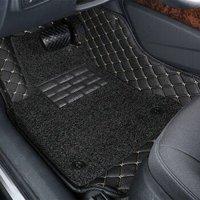驰钦全包围皮革汽车脚垫专车专用   绗绣双层黑色+凑单品
