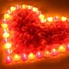 绿之源香薰蜡烛套餐 浪漫表白生日求婚布置 紫色心形80个粉色心形40个花瓣1200片晚餐婚庆无烟蜡烛 99元